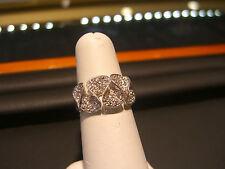 WOMENS FINE 14 KARAT WHITE GOLD DIAMOND RING 0.80 CARAT DIAMON FLORAL DESIGN!!