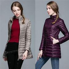 Women's Girl 90% Duck Down Feather Ultralight Long Jacket Hooded Padded Coat