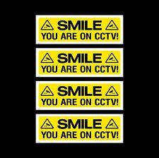 Cctv signo, paquete de pegatinas de 4 - 150 Mm X 50 Mm-seguridad, Cámara, advertencia (misc3)