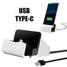 Dock Station USB Tipo Type C Estación de Carga y Datos Plata para Samsung Huawei