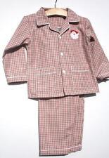 Sweet Dreams Boys Baby Christmas Lightweight Pajamas Santa Applique Plaid Family