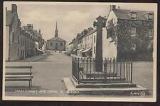 Postcard Inveraray, SCOTLAND Main Street Storefronts & Cross 1930's
