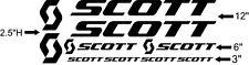 Custom Scott bikes Frame Decal Set. Pick Your Color. USA Seller!