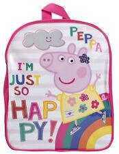 Girls Peppa Pig Backpack Kids Pink School Bag Rucksack Lunch Nursery Travel Bag