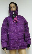 ROXY FILLES ENFANTS Veste d'HIVER de snowboard ski avec capuche violet 152 164
