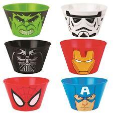 Kids Licensed Plastic Bowls Boys Girls Superheroes Cartoon Characters Toys