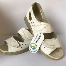 Ladies Padders Wave White Sandal EE Wide Fitting New £39.99