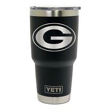 Green Bay Packers YETI Laser Engraved Colster, 20 or 30 oz. Black Tumbler