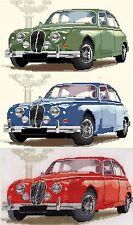 Jaguar Mark 2 counted cross stitch kit/chart 14s aida