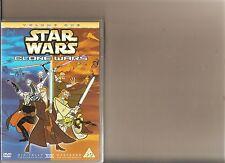 STAR WARS CLONE WARS VOLUME 1 ONE DVD ANIMATED CARTOON