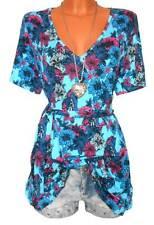 JOE BROWNS Shirt GR. 40 42 44 46 48 50 Longshirt Tunika Blumen blau NEU - 040