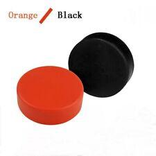1 X Ice Hockey Pucks Rubber Orange Black Hockey Games Training Exercise Supplies