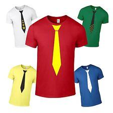 T-Shirt Krawatte ANVIL Shirt Fun Kult Spass Geschenk Party bedruckt Anzug Fliege