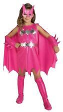 Girls Superhero Pink Batgirl Fancy Dress Costume - Deluxe