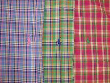 Polo Ralph Lauren Custom Fit Bold Plaid Woven Shirt Pink Green Blue $89 Pony NWT
