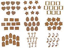 Taglio laser in legno MDF Craft piccole forme spazi più Designs