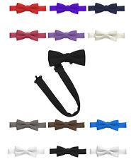 New Bow Tie Men Boys Baby Satin look Solid Adjustable Pre-Tied Tuxedo Made USA