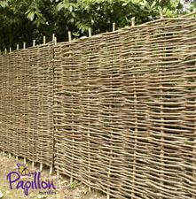 Woven Wooden Hazel Hurdle Fence Panel 6ft Natural Garden Fencing Screening