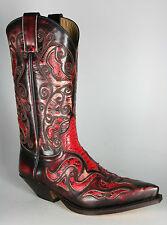 7428 Sendra Cowboystiefel Denver Denver Rojo Python 080 Antik ROT