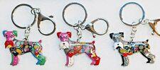 Schnauzer Dog Multicolor Enamel Alloy Key Ring Keychain Jewelry