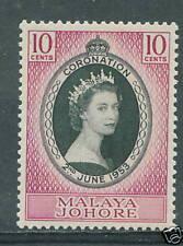 Johor Coronation 10c 1953 mh # E 109