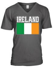 Ireland Flag Colors Font Irish Country Soccer Heritage Irl Men's V-Neck T-Shirt