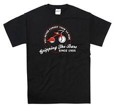 Drôle 1950s anniversaire motard t shirt harley indian bsa chopper hog bobber norton s