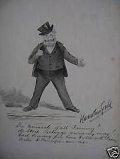 CARICATURA Borsa CARRUTHERS Gould INCHIOSTRO 1900