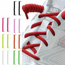 2pcs Curly Elastic No Tie Single Colour Shoelaces Shoe Laces 110cm After Stretch