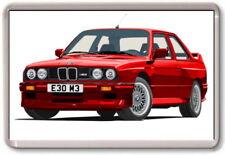 FRIDGE MAGNET -  BMW E30 ART - 3 series, M3 -  Large