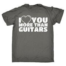 Ti amo più di chitarre da Uomo T-shirt Tee NATALE Musica Strumento Band