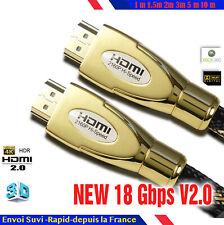 Cable hdmi 2.0 4K 60Hz ultra HD 2160p 3D Full HD HDTV HDR 18GB 1,5 2 3 5 10 30 m