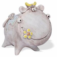 Spardose Kuh Frieda aus Keramik, handgefertigt 11cm verschiedene Farben
