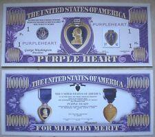 Biglietto SEGNALIBRO banconota DOLLARO medaglia d'oro al valore militare soldato