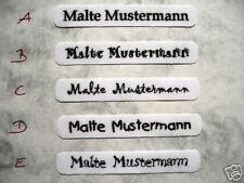 Namen Namens Etikett Label Etiketten Schilder zum Aufbügeln Einbügeln Wäsche