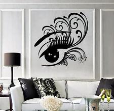 Lagre Vinyl Decal Sticker Women's Eye Big Eyelashes Beauty Salon Decor (n651)