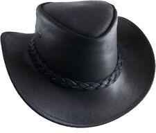 Chapeau de Cowboy Johnny Cash Australien Trapper CUIR PAYS noir
