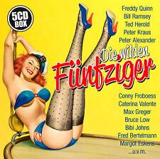 CD Die wilden Fünfziger von Diverse Interpreten  5CDs