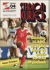 BL 86/87 Bayer 04 Leverkusen - Borussia Mönchengladbach