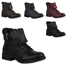 894287 Damen Stiefeletten Gefüttert Schnürstiefeletten Schuhe Mode