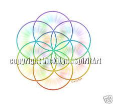 Seed of Life Sacred Geometry chakras meditation T-Shirt