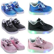 Toddler Kids Boys Girls Light Up LED Flashing Trainers Sneakers Running Shoes UK