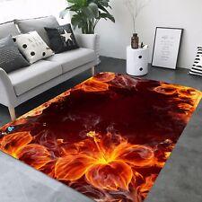 3D Flame Orange 429 Non Slip Rug Mat Room Mat Quality Elegant Photo Carpet CA
