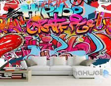 3D Graffiti Hip Hop Wall Mural Paper Art Print Decals Decor