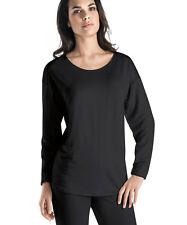 Hanro Lounge Shirt Langarm Chelsea- Lyocell/ Elasthan- Farbe black- Gr XS bis XL