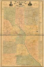 Poster, Many Sizes; Map Of Alamance County, North Carolina 1893