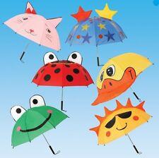 Kids Umbrella Animal Design Children Brolly Boys Girls High Quality Fun Gift New