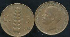 ITALIE ITALY   5 centesimi 1922