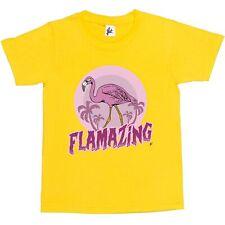 Flamazing Tropical Largo Cuello Flamingo increíble Niños Niñas T-Shirt