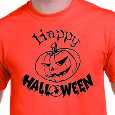 mens happy halloween t shirt Adult fancy dress costume Orange Top
